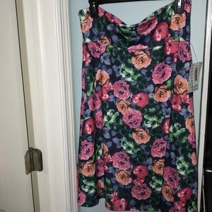 Floral Lularoe Azure skirt